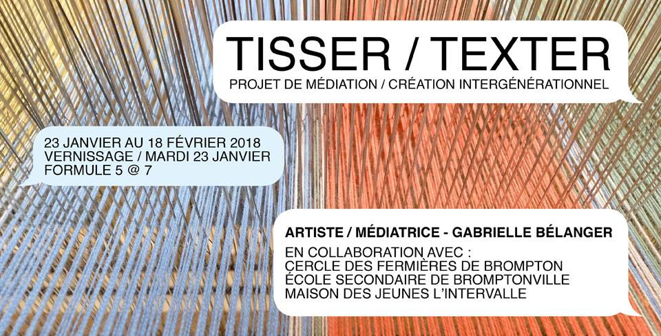 Tisser - Texter - promo
