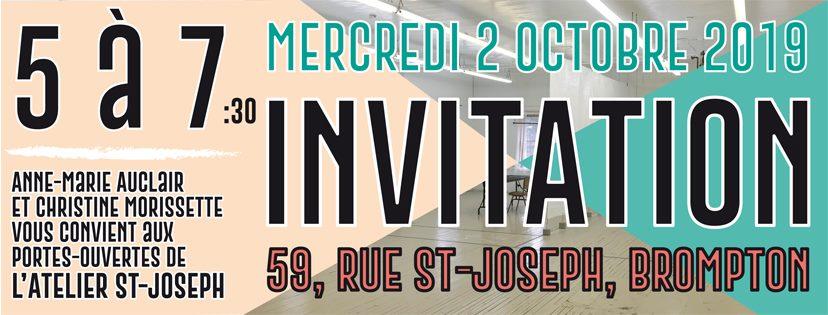 5 à 7 portes ouvertes atelier st-joseph